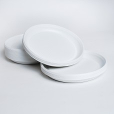 Тарілка 205 б/д біла PS (100шт/пак)