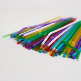 Трубочки разноцветные (200шт/пак)