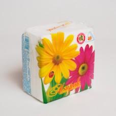 Серветка 1 шарова біла АЛСУ (40шт/пак)