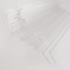 Трубочки прозорі (200шт/пак)