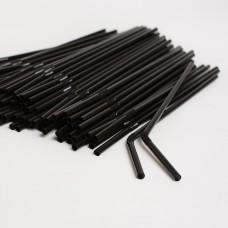 Трубочки черные (200шт/пак)