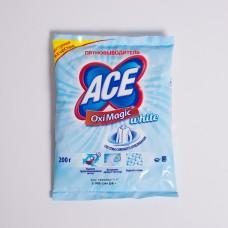 Засіб для видалення плям АСЕ Oxi Magic для білого 200г (26шт/ящ)