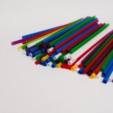 Трубочки для коктейлей асорти (500шт/пак)