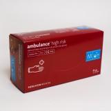 Перчатки латексные (M) AMBULANCE PF (25пар/пак)