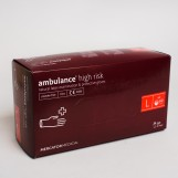 Перчатки латексные (L) AMBULANCE PF (25пар/пак)
