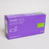 Рукавиці нітрилові (S) NYTRILEX PF CHEMO (50пар/пак)