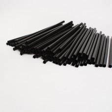 Трубочки для коктейлей черные (500шт/пак)