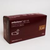 Перчатки латексные (XL) AMBULANCE PF (25пар/пак)