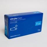 Рукавиці нітрилові (М) NYTRILEX BASIC (50пар/пак)