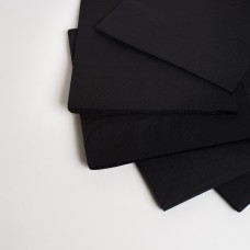 Салфетка 3 слоя черная МАРГО (20шт/пак)