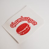 "Уголок с логотипом ""Гамбургер"" 120мм*170мм (500шт/пак)"