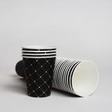 Стакан бумажный 175мл СУПЕРКАП Черный ромб (50шт/пак)