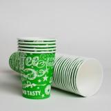 Стакан бумажный 250мл СУПЕРКАП Green (50шт/пак)