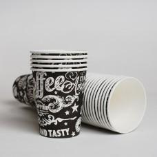Стакан бумажный 250мл СУПЕРКАП Black (50шт/пак)