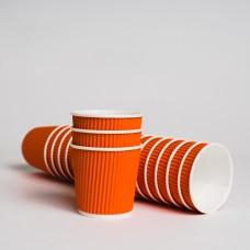 Стакан гофрированный 110мл ЛОРИПЛАСТ оранжевый (20шт/пак)