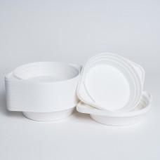 Миска 300мл біла PS (100шт/пак)