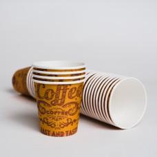 Стакан паперовий 110мл СУПЕРКАП нейтрально коричневий (50шт/пак)