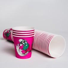 Стакан паперовий 110мл СУПЕРКАП Хіпстер рожевий (50шт/пак)