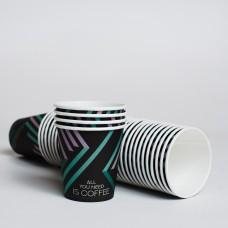 Стакан паперовий 110мл СУПЕРКАП  Green Line  (50шт/пак)